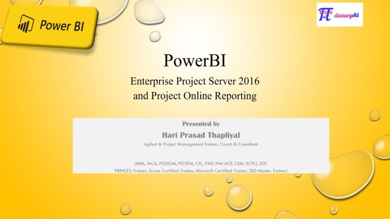 Power BI Reporting for Project Online